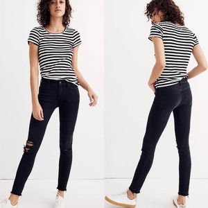 """Madewell 9"""" High-Rise Skinny Black Jeans Size 26"""